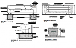 Foundation plan and beam working plan detail dwg file