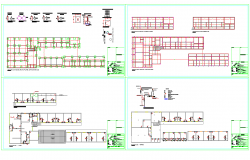 Foundation plan and column detail dwg file