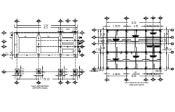 Foundation plan and reinforcement working plan detail dwg file
