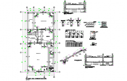 Foundation plan and section detail autocad file