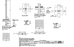 Foundation plan and section detail dwg file
