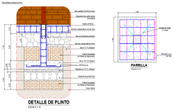 Foundation plan and section layout file