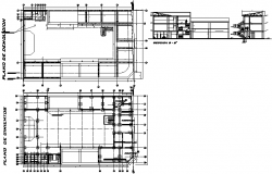 Foundation plan and section plan detail dwg file