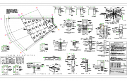 Foundation plan and section plan dwg file