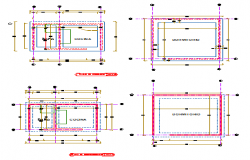 Foundation plan and surplus plan design drawing of social housing design
