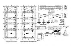 Foundation plan construction details with concrete beam dwg file