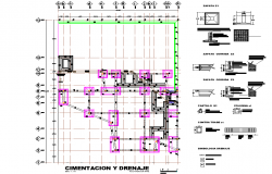 Foundation plan detail dwg file