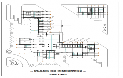 Foundation plan details of kids playground dwg file