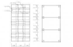 Foundation plan details of school dwg file