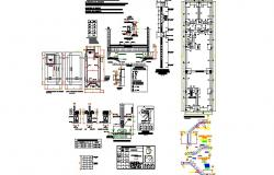Foundation plan details with staircase, column and beam cad construction drawing dwg file