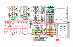 Foundation plan layout and design plan layout detail view dwg file