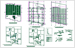 Foundation plan layout view detail dwg file