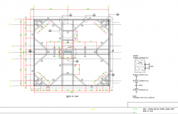 Foundation plan layout view detail dwg fileQ