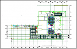 Foundation plan layout view detail with plan detail view dwg file