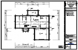 Foundation plan of Bungalow design drawing