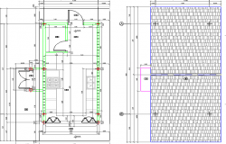 Foundation plan of Food unit handler design dwg file