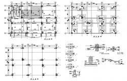Foundation plan of a building detail CAD structure layout file in dwg format