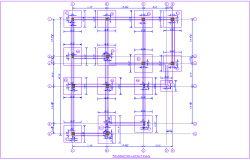 Foundation plan of house dwg file