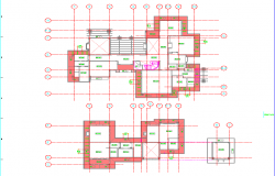 Foundation plan of house project