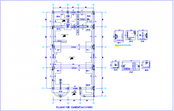 Foundation plan with construction detail dwg file