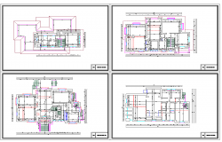 Foundation plan with structure detail in autocad file