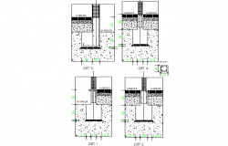 Foundation section detail dwg file