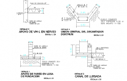 Foundation section plan autocad file