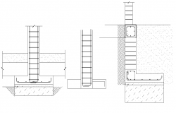 Foundation section plan detail