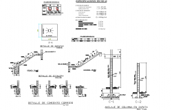 Foundation section plan detail autocad file