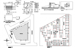 Foundation section plan dwg file