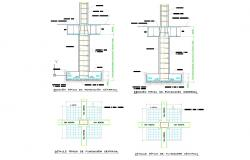 Foundation structure detail autocad dwg files
