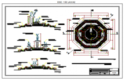 Fountain design drawing in main plazas