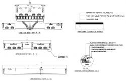Four Lane Bridge Cad Drawing