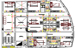 Four Star Hotel Architecture Design and Structure Details dwg file