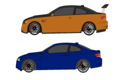 Four Wheel Car Free CAD block