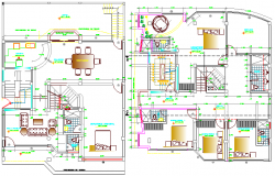 Four flooring multi-family housing structural details dwg file