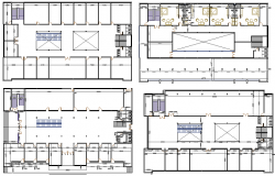 Four flooring shopping mall floor plan layout details dwg file
