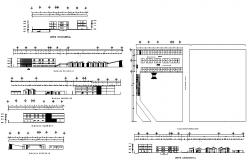 Four star hotel building all sided elevation, section and auto-cad details dwg file