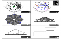 Four wheel motorcycle dealership building auto-cad details dwg file