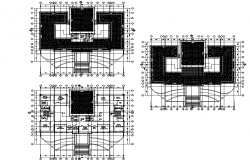 Fourth floor and terrace floor office plan detail