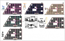 Fraction sustainable social interest Plan elevation view dwg file