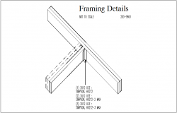 Framing plan 3D view details