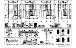 Framing plan structure details of all floors of house building dwg file