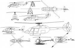 Free Air transport helicopters CAD file