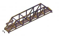 Free Download 3D CAD Drawing of MS Bridge With Basic Rendered AutoCAD File