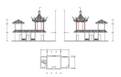 Free Download Architecture Design Of Chinese Pagoda DWG File