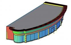Free Download Building 3D Model DWG File