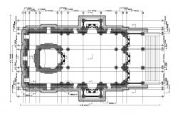 Free Download Building terrace floor plans AutoCAD File