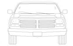 Free Download Car Elevation CAD Block