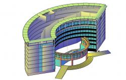 Free Download Commercial Building 3D AutoCAD File